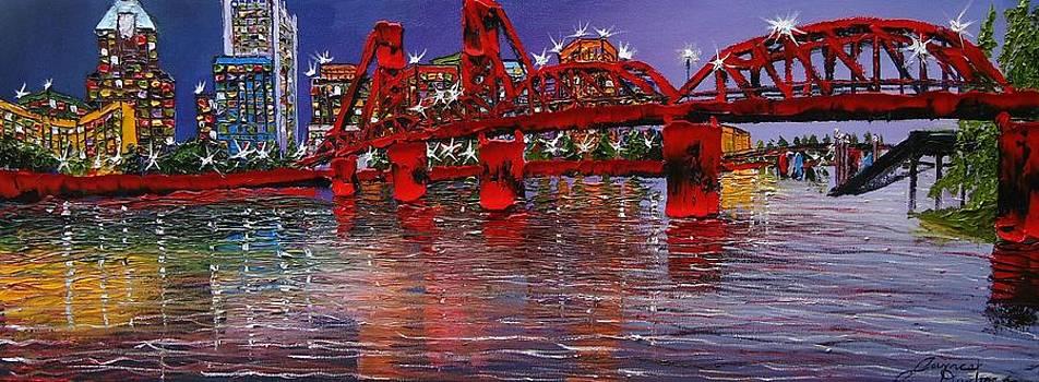 Portland City Lights 27 by Portland Art Creations
