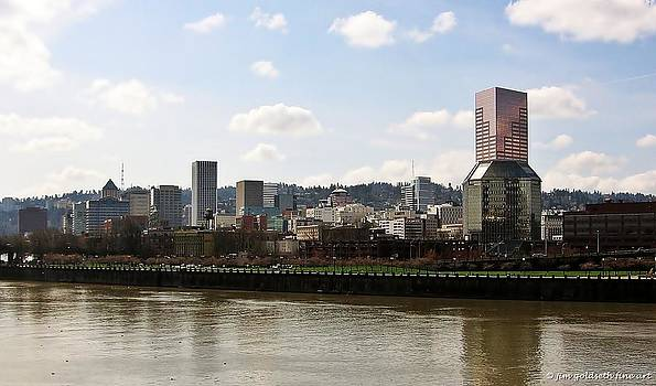 Portland On The Willamette by Jim Goldseth