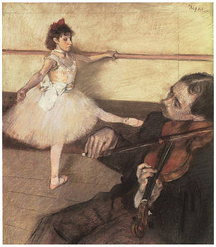 Edgar Degas - Portrait of a Dancer at her Lesson