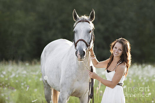 Portrait of a Horse and Rider by Heather Swan