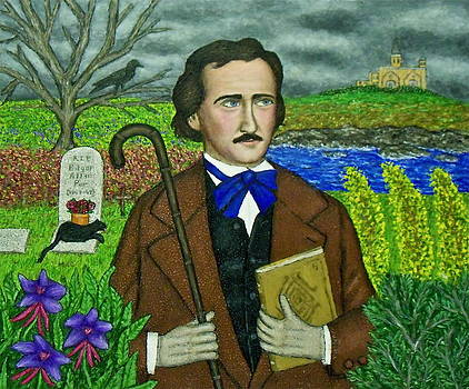Portrait of Edgar Allan Poe by Stephen Warde Anderson