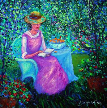 Glenna McRae - Portrait of Ellsabeth in her Garden