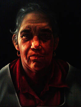 Portrait of my mother by Antonio Barriga
