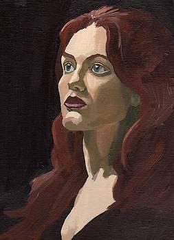 Portrait of Virginia P by Stephen Panoushek