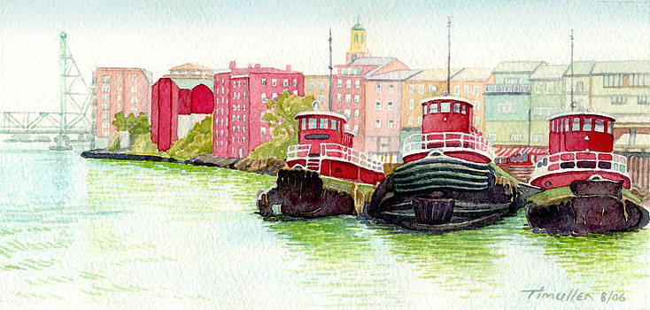 Portsmouth Tugs by Tim Mullen