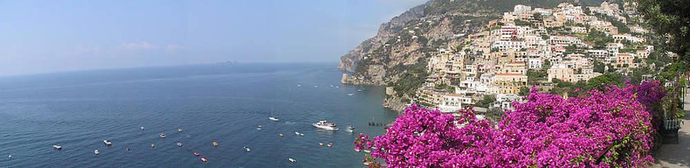 Positano Italy panorama 1 by Len Yurovsky