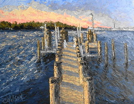 Potomac Sunset by Chrys Wilson