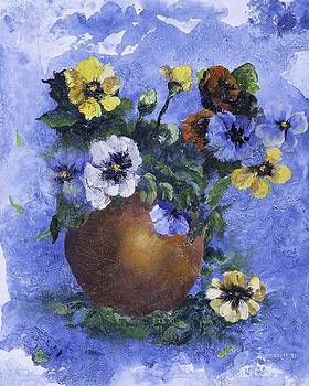 Potted Pansies by Ann Arensmeyer