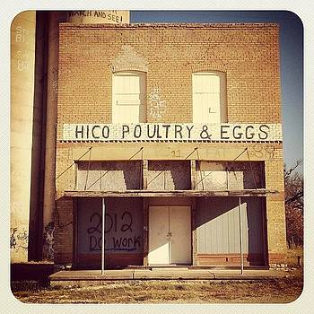 Poultry And Eggs, Hico, Texas #hico by Michael Witzel