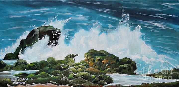 Pounding Surf by Larry Geyrozaga