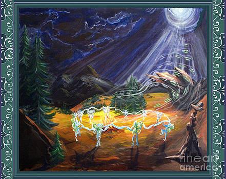 Power Dance with Scroll Border by Joyce Jackson