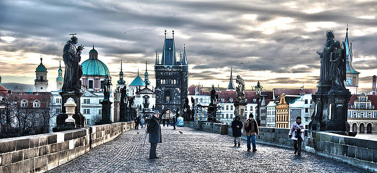 Prague Bridge by Thomas Kessler