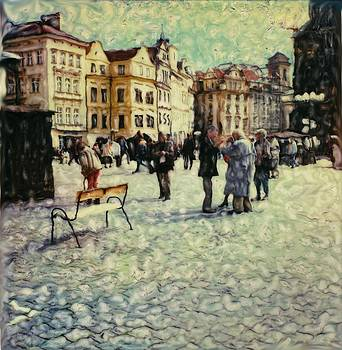 Prague Square by Rod Huling