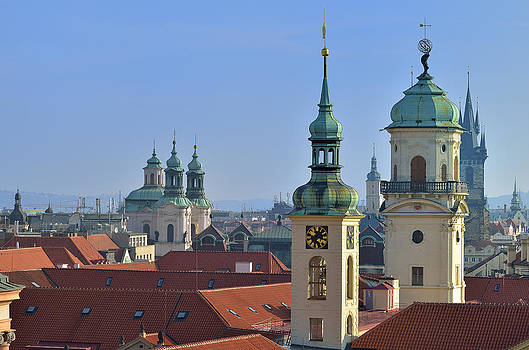 Prague Towers by Travel Images Worldwide