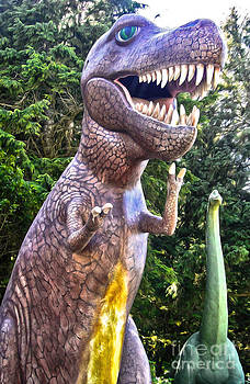 Gregory Dyer - Prehistoric Gardens - T Rex and Brontosaurus