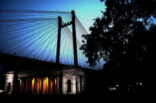Princep Ghat At Dusk by Somnath Chakraborty