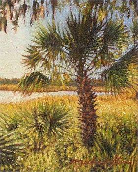 PRINT River Palm by Michael Story