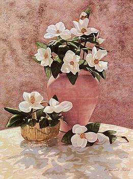 PRINT Sunlit Magnolias by Michael Story