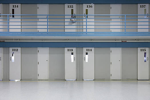 Prison Cells On Two Floors. Doors by Roberto Westbrook