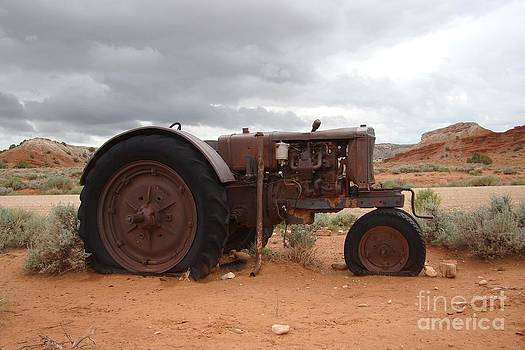 Pryor Mountain Tractor by Lori Bristow