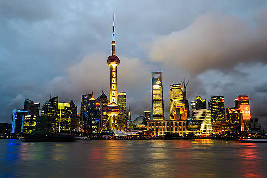 Pudong Skyline by Viktor Lakics