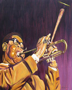 Purple and Gold Dizzy Gillespie by Michael Morgan
