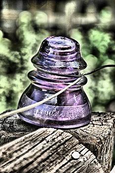 Purple Glass Insulator by Donald Tusa