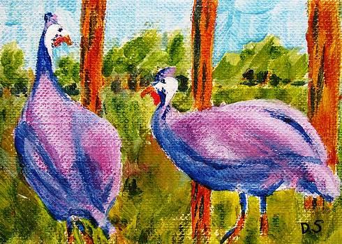 Purple Guineas by Debra Spinks