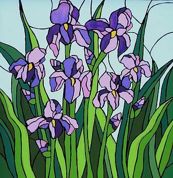 Purple Iris by JW DeBrock