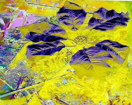 Purple on Yellow by Doris Wood