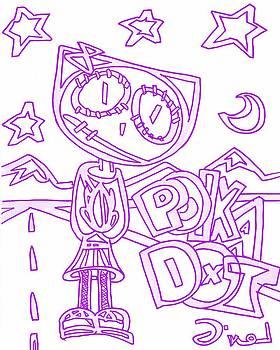 Purple Polka Dot   by Levi Glassrock