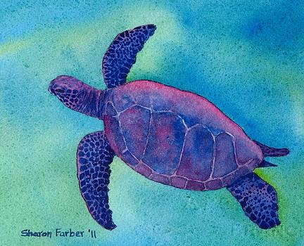 Purple Sea Turtle by Sharon Farber