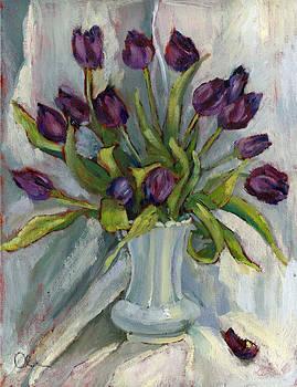 Purple Tulips by Lelia Sorokina
