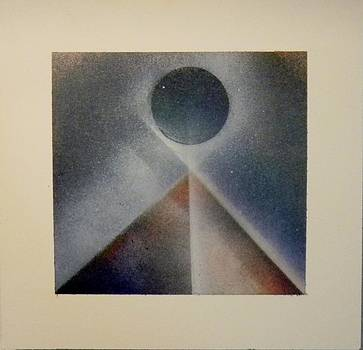 Pyramid and Blue Moon by James Howard