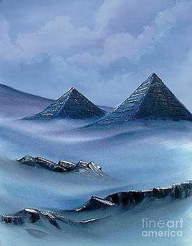 Pyramids in Blue by Cynthia Adams
