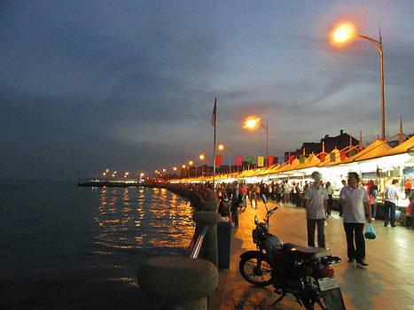Alfred Ng - Qingdao Harbour at Night