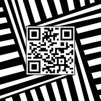 QR Code Optical Illusion by Casino Artist