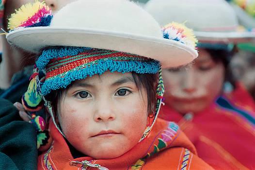 Quechua girl Amarete of the population. Republic of Bolivia. by Eric Bauer