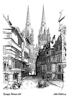 Quimper Cathedral France 1457ad by John Cullen