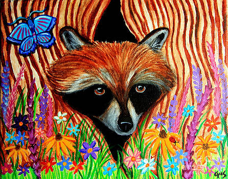Nick Gustafson - Raccoon and Butterfly