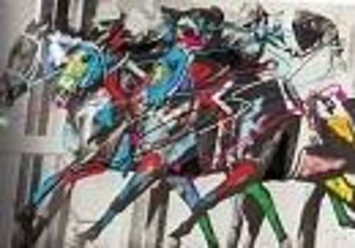 Race Horses 1 by Walter Hernandez