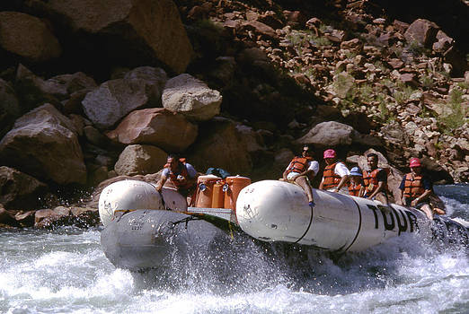 Rafting in the Colorado by John Wolf