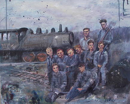 Rail Yard Blues by Jo-ann Dziubek-MacDonald