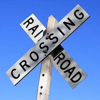 Railroad Crossing Sign by Unknown