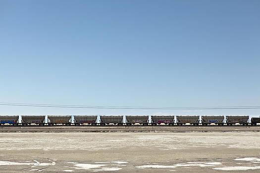 Railroad Train Hopper Cars Bonneville by Dan Kaufman