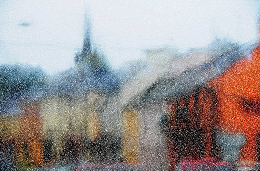 Jenny Rainbow - Rain. Carrick on Shannon. Impressionism