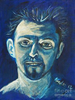 Rainbow Justin in Blue by John Keasler