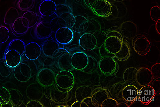 Rainbow Neon Rings by Rachel Duchesne