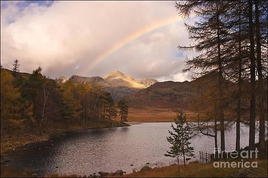 Rainbow over Blea Tarn by George Hodlin