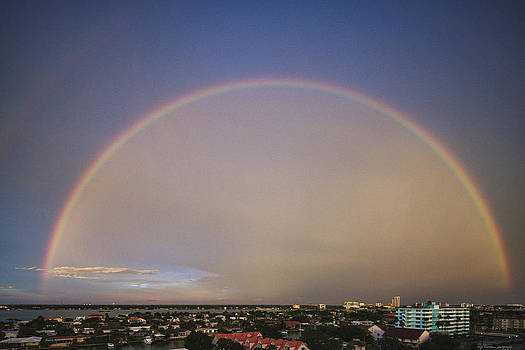 Rainbow over Clearwater by Luigi Barbano